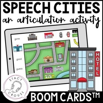 Speech Cities: An Articulation Activity BOOM CARDS™