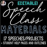 Speech Class Materials - NOW EDITABLE!