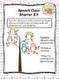 Speech Class Starter Kit