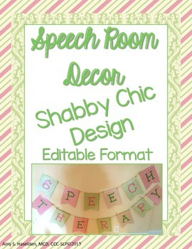 Speech Room Decor Shabby Chic