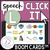 Speech Click It /l/ and /l/ Blends Articulation Game BOOM CARDS™ Speech Therapy