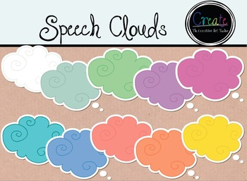 Speech Clouds Clipart