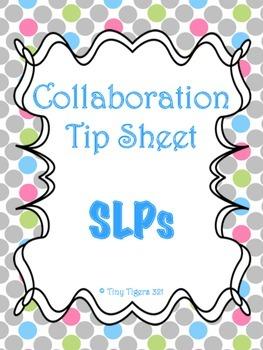 Speech Collaboration Tip Sheet