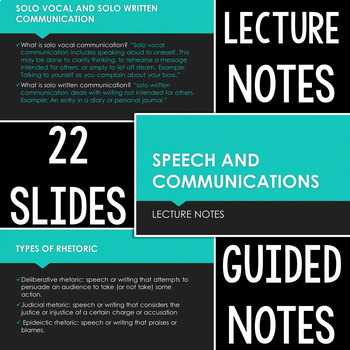 Speech & Communications Curriculum: Editable Portfolio, Lectures, & Answer Key
