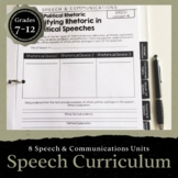 Speech & Communications Curriculum: Editable, Lectures, & Answer Key (+DIGITAL)