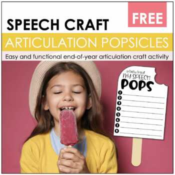 "Speech Craftivity- ""Say""sicles"