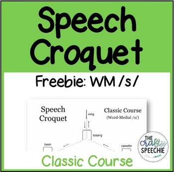 Speech Croquet Freebie for Word-Medial /s/: Classic Course