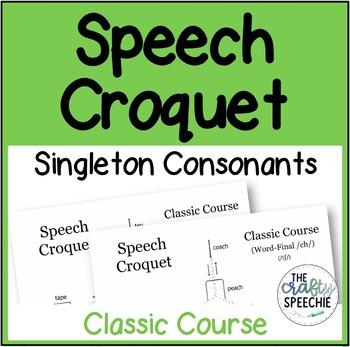 Speech Croquet for Singleton Speech Sounds (Classic Course)