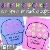 Speech Cupcakes: A Free Open Ended Craft