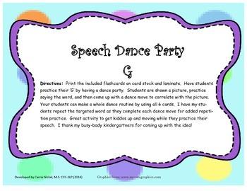 Speech Dance Party G