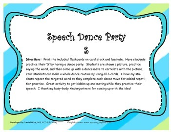 Speech Dance Party S