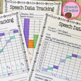 Speech Therapy Data Tracking Forms | Progress Monitoring | Graph
