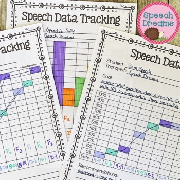 Speech Therapy Data Tracking Forms {Progress Monitoring fo