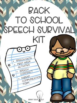 Back to School Speech Survival Kit