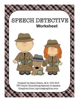 Speech Detective Worksheet