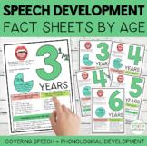 Speech Development Fact Sheets by Age