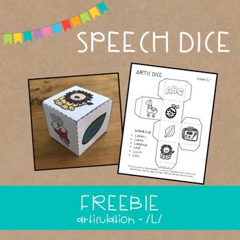 Speech Dice FREEBIE!