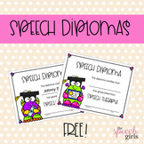 Speech Diploma FREEBIE