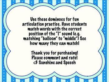 Speech Dominoes- /l/ sound