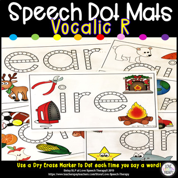 Speech Dot Mats - Vocalic R - Color and B&W