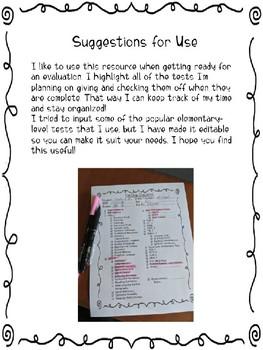 Speech Evaluation Checklist