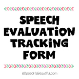 Speech Evaluation Tracking Form {FREEBIE}