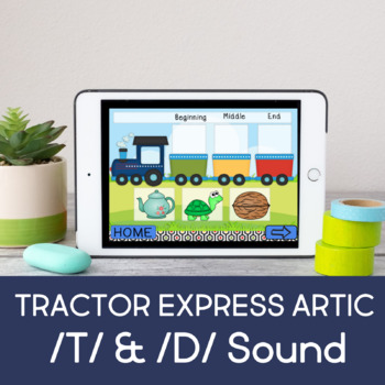Speech Express for Articulation (T/D Sounds) (Boom Cards) (Teletherapy)