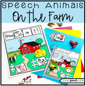Speech and Language Therapy Farm Animals: No Prep Unit