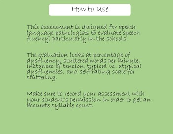 Speech Fluency Assessment