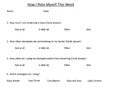 Speech Fluency Self-Rating Sheet
