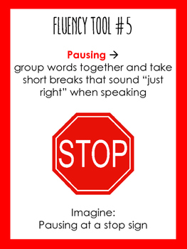 Speech Fluency Visual Anchors for Stuttering (includes small size for students)