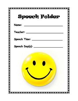 Speech Folder Cover