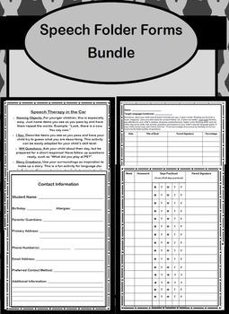 Speech Folder Forms Bundle