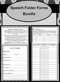 Speech Folder Forms Bundle