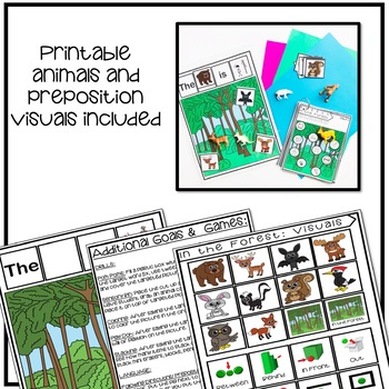 Speech and Language Therapy Forest Animals Activity | Distance Learning