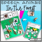 Speech and Language Therapy Forest Animals: No Prep Unit
