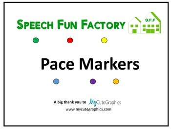 Speech Fun Factory Pace Markers for Free