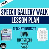 Speech Gallery Walk Lesson Plan