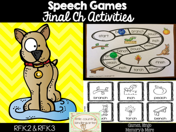 Speech Therapy Games: Final Ch Games Bundle