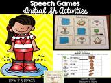 Speech Articulation Games: Initial Sh Games
