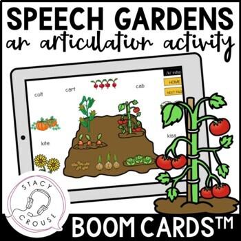 Speech Gardens: An Articulation Activity BOOM CARDS™