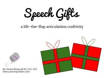 Speech Gifts Articulation Activity