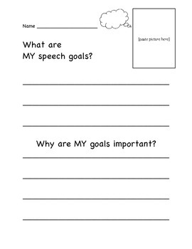 Speech Goal Awareness and Reflection Sheet