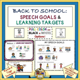 Back to School:  Speech Goals and Learning Targets