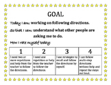 Speech Goals and Rubrics for Self Assessment
