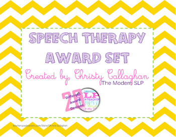 Speech/Language Award Set