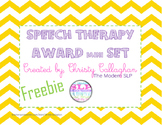 Speech/Language Award Set Freebie