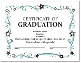 Speech Graduation Certificate