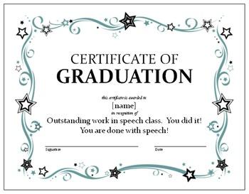 Speech Graduation Certificate