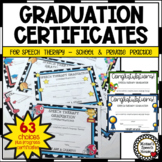 SPEECH THERAPY GRADUATION & PROGRESS CERTIFICATES PARENTS